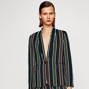 Zara Woman striped blazer sz XS